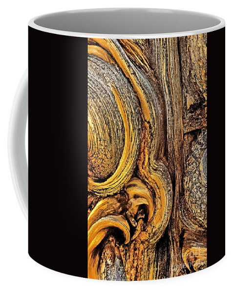 Bristlecone Pine Coffee Mug featuring the photograph Bristlecone Pine Bark Detail White Mountains Ca by Dave Welling