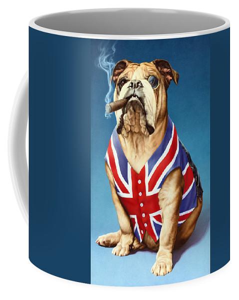 British Coffee Mug featuring the photograph British Bulldog by MGL Meiklejohn Graphics Licensing
