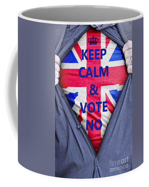 Scotland Coffee Mug featuring the photograph British Businessman Votes No by Antony McAulay