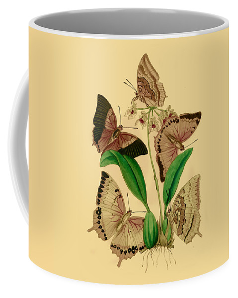 Butterflies Coffee Mug featuring the painting British Butterflies by Philip Ralley