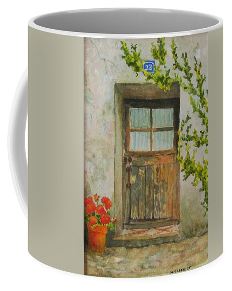 Door Coffee Mug featuring the painting Brittany Door by Mary Ellen Mueller Legault
