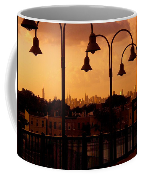Iphone Cover Cases Coffee Mug featuring the photograph Broadway Junction In Brooklyn, New York by Monique's Fine Art