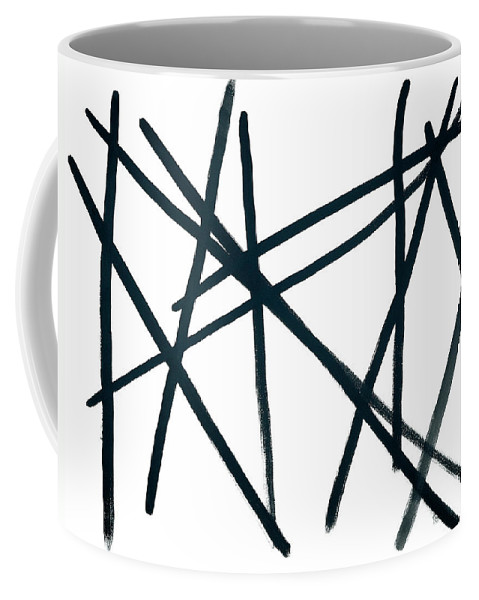 Contemporary Coffee Mug featuring the painting Broken Fence by Bjorn Sjogren