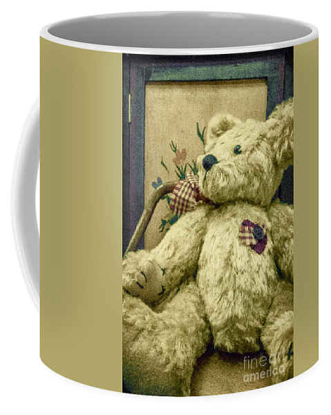 Teddy Bear Coffee Mug featuring the photograph Broken Heart Mended by Margie Hurwich