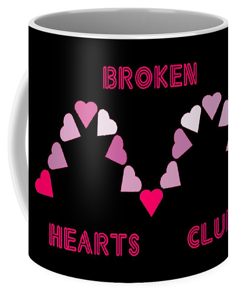 Computer Graphics Coffee Mug featuring the photograph Broken Hearts Club by Marian Bell