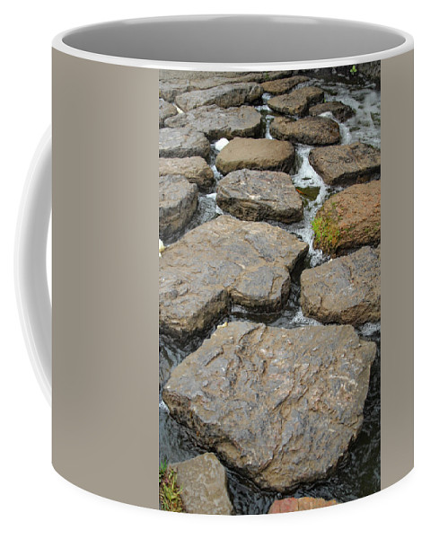 Rocks Coffee Mug featuring the photograph Broken Road by Donna Blackhall