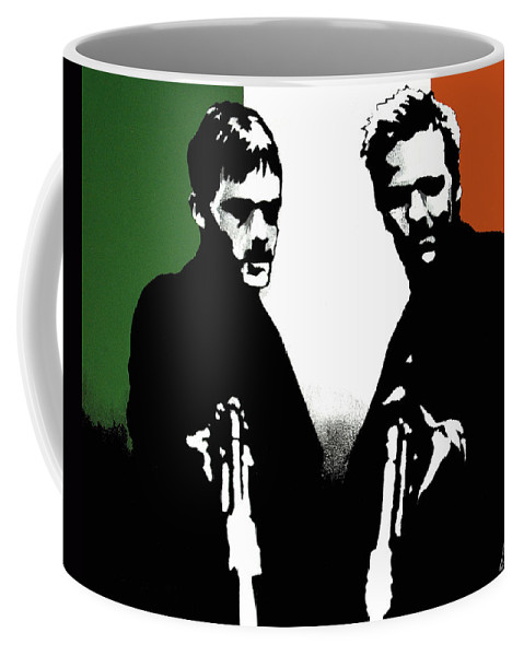 Boondock Saints Coffee Mug featuring the painting Brothers Killers And Saints by Dale Loos Jr