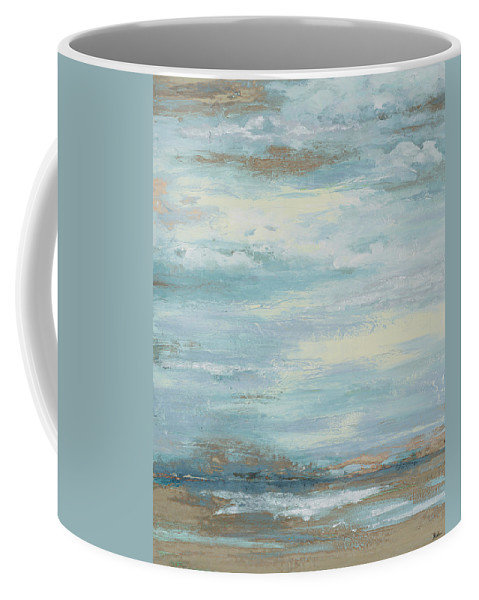 Brown Coffee Mug featuring the painting Brown Misty Morning by Patricia Pinto