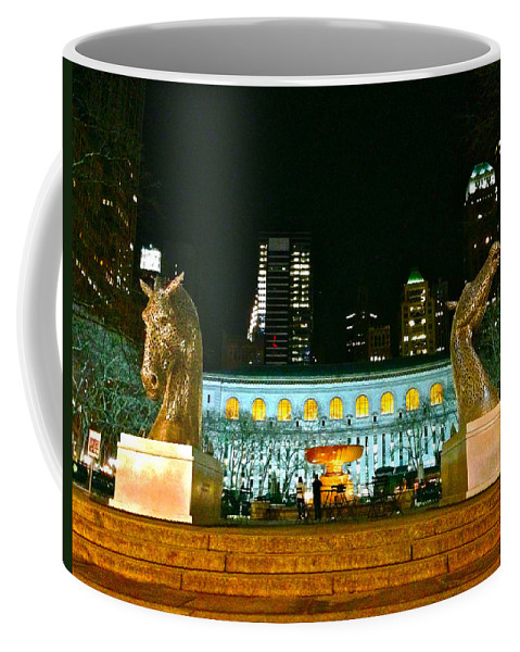 Bryant Park Coffee Mug featuring the photograph Bryant Park Horses by Lexi Heft