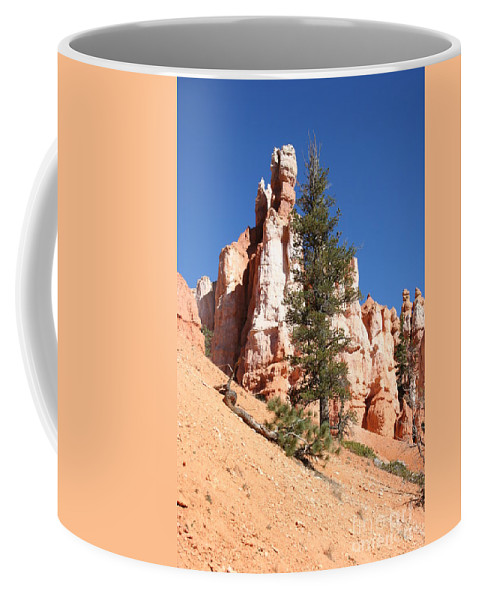Canyon Coffee Mug featuring the photograph Bryce Canyon Red Fins by Christiane Schulze Art And Photography