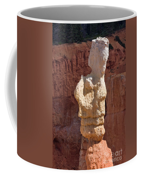 Nature Coffee Mug featuring the photograph Bryce Canyon Rock Formation by Louise Heusinkveld