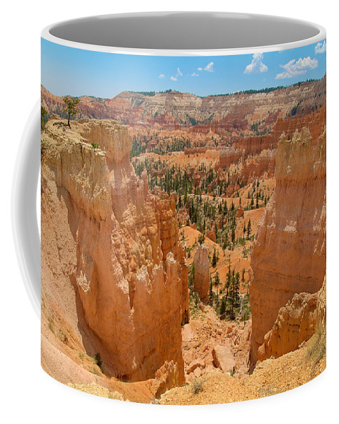 Bryce Canyon Coffee Mug featuring the photograph Bryce Canyon Valley Walls by Richard J Cassato