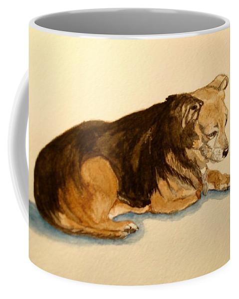 Animal Coffee Mug featuring the painting Bubba by Sonya Catania