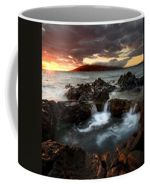 Sunset Coffee Mug featuring the photograph Bubbling Cauldron by Mike Dawson