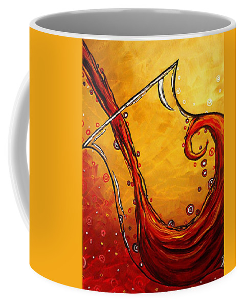 Abstract Coffee Mug featuring the painting Bubbling Joy Original Madart Painting by Megan Duncanson