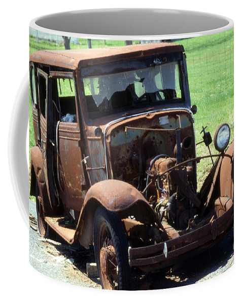 Car Coffee Mug featuring the photograph Bucket Of Bolts by Skip Willits