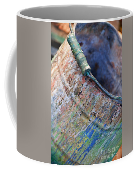 Bucket Coffee Mug featuring the photograph Bucket Of Colors by Gwyn Newcombe