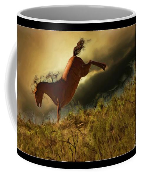 Horse Coffee Mug featuring the photograph Bucking Horse by Blake Richards