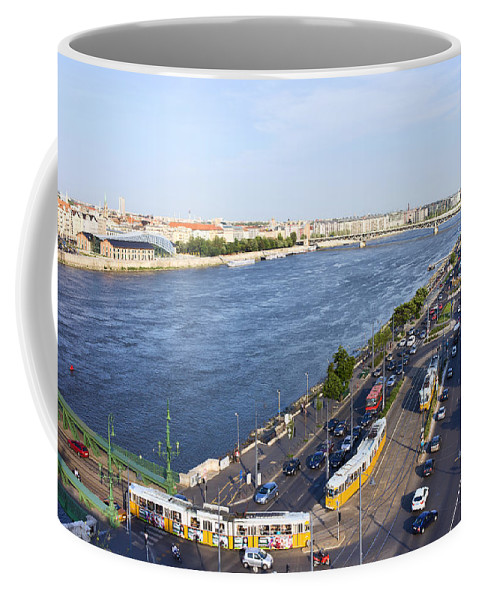 Budapest Coffee Mug featuring the photograph Budapest Street Traffic In Hungary by Artur Bogacki