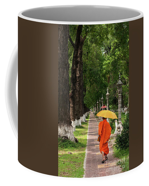 Cambodia Coffee Mug featuring the photograph Buddhist Monk 01 by Rick Piper Photography