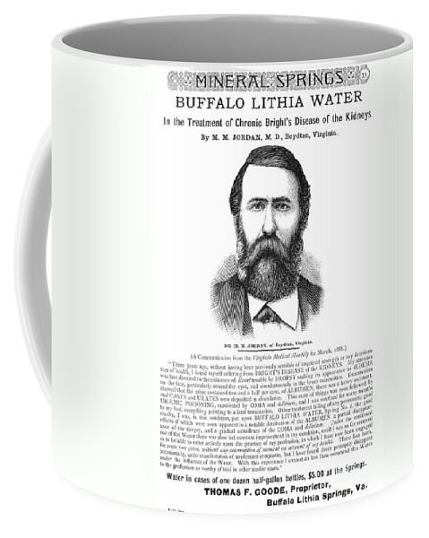 1890 Coffee Mug featuring the photograph Buffalo Lithia Water, 1890 by Granger