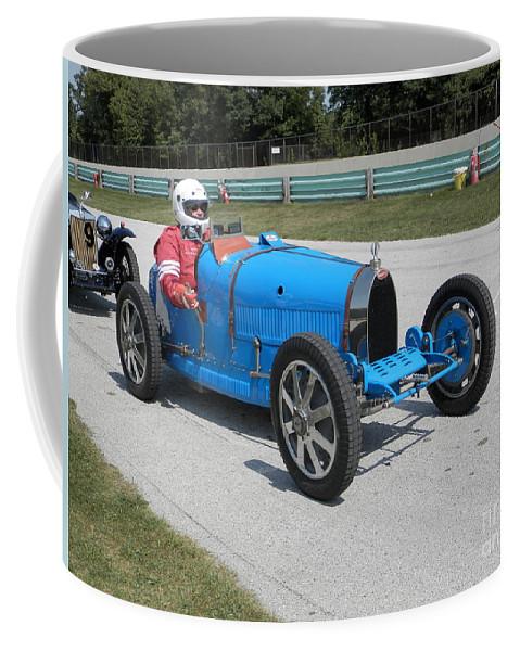 Bugatti Coffee Mug featuring the photograph Bugatti Type 35 Racer by Neil Zimmerman