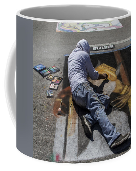 Festival Coffee Mug featuring the photograph Builder by Debra and Dave Vanderlaan