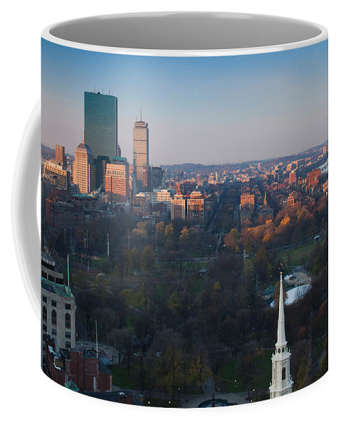 Photography Coffee Mug featuring the photograph Buildings In A City, Boston Common by Panoramic Images