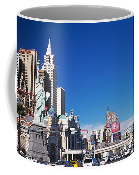 Photography Coffee Mug featuring the photograph Buildings In A City, The Strip, Las by Panoramic Images