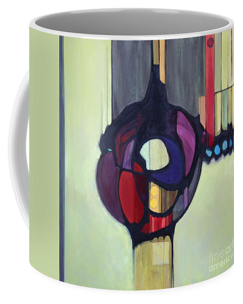Bold Color Coffee Mug featuring the painting Bulbosity by Marlene Burns