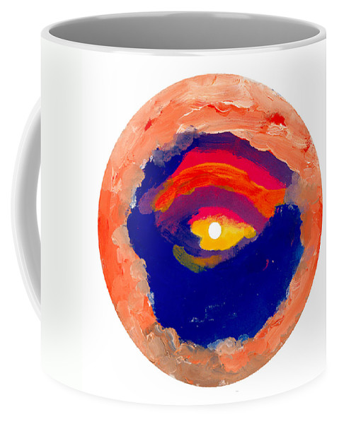 Contemporary Coffee Mug featuring the painting Bull's Eye by Bjorn Sjogren