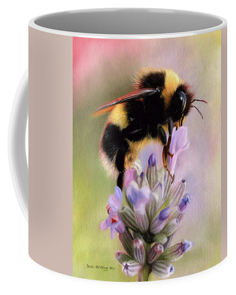 Bumble Bee Coffee Mug featuring the painting Bumble Bee by Sarah Stribbling