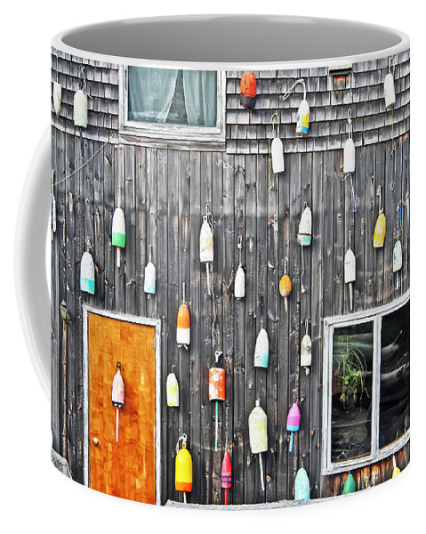 Travel Coffee Mug featuring the photograph Buoy Wall by Elvis Vaughn