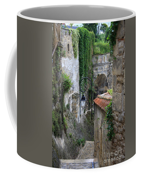 Alley Coffee Mug featuring the photograph Burgundy Alley by Christiane Schulze Art And Photography