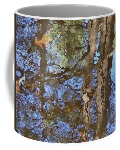 River Coffee Mug featuring the photograph Reflection In Bushkill Falls by Nili Tochner