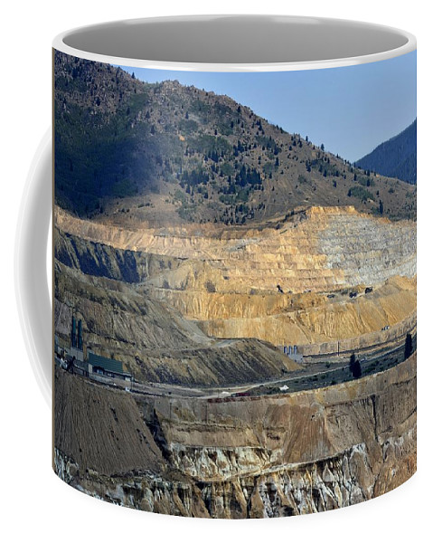 Butte Coffee Mug featuring the photograph Butte Berkeley Pit Mine by Image Takers Photography LLC - Carol Haddon