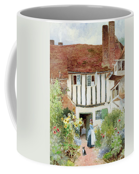 Butterfly Coffee Mug featuring the painting Butterflies by Arthur Claude Strachan