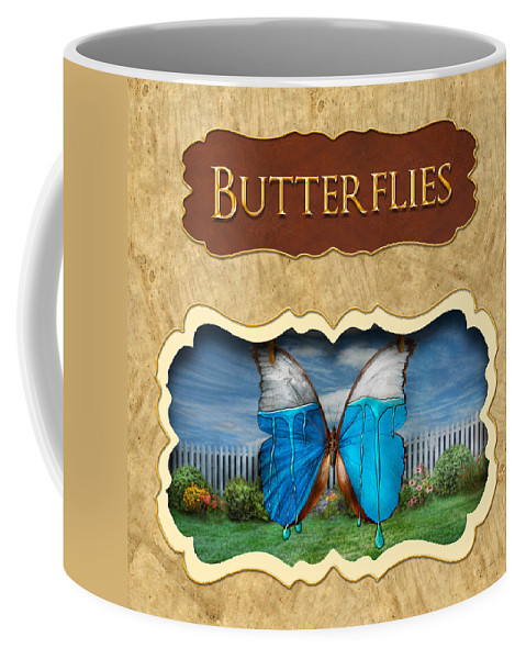Butterflies Coffee Mug featuring the photograph Butterflies Button by Mike Savad