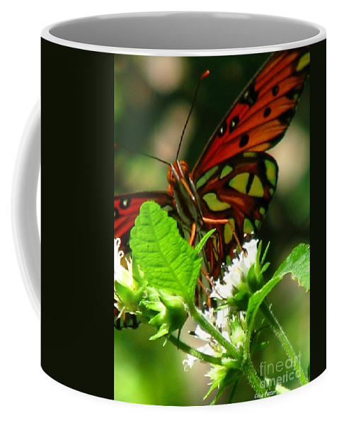 Patzer Coffee Mug featuring the photograph Butterfly Art by Greg Patzer