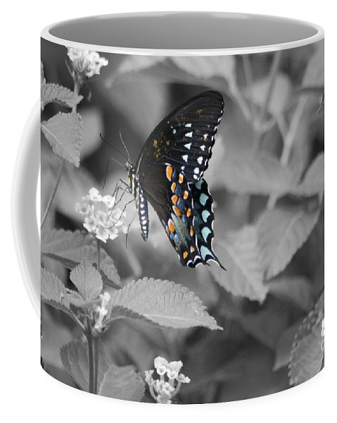 Butterfly Coffee Mug featuring the photograph Butterfly Art Wings Together by John W Smith III