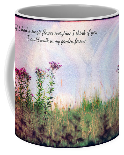 Nature Butterfly Print Butterflyabstract Coffee Mug featuring the photograph Butterfly In My Garden by Peggy Franz