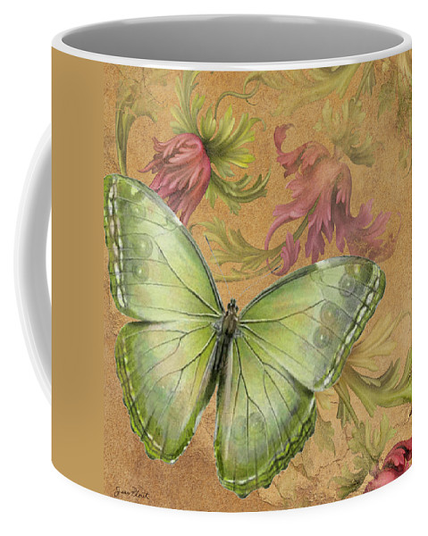 Digital Coffee Mug featuring the digital art Butterfly Inspirations-a by Jean Plout