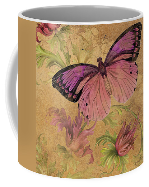 Digital Coffee Mug featuring the digital art Butterfly Inspirations-d by Jean Plout