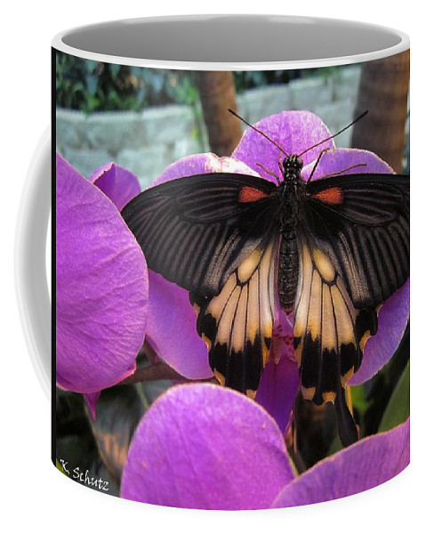 Butterfly Coffee Mug featuring the digital art Butterfly Palace by Kelly Schutz