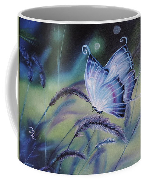 Wild Life Coffee Mug featuring the painting Butterfly Series #3 by Dianna Lewis