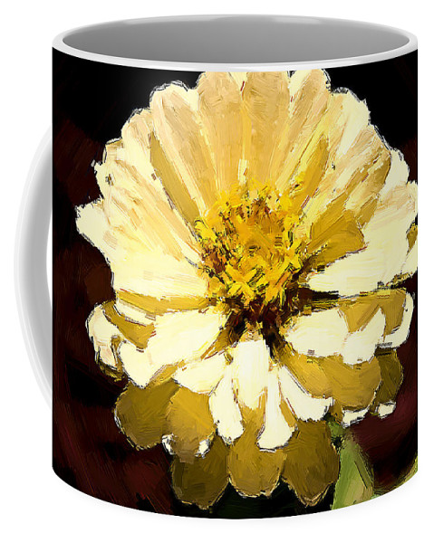 Flower Coffee Mug featuring the photograph Buttermilk Yellow by Alice Gipson