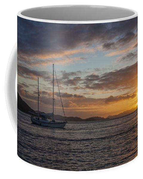 3scape Coffee Mug featuring the photograph Bvi Sunset by Adam Romanowicz