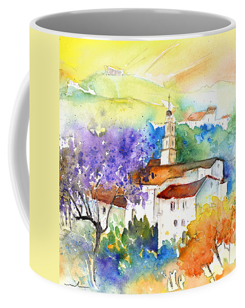 Travel Coffee Mug featuring the painting By Teruel Spain 02 by Miki De Goodaboom