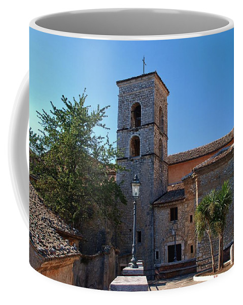Italy Coffee Mug featuring the photograph By The Church - Veroli by Dany Lison