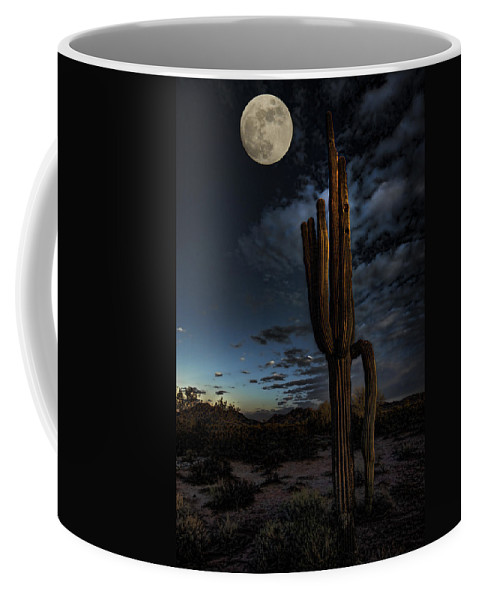 Moon Coffee Mug featuring the photograph By The Light Of The Moon by Saija Lehtonen